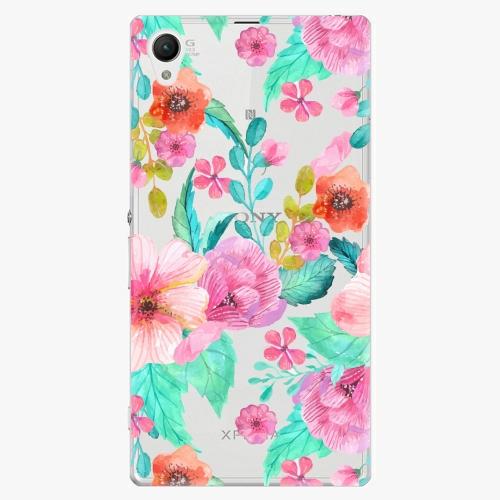 Plastový kryt iSaprio - Flower Pattern 01 - Sony Xperia Z1 Compact
