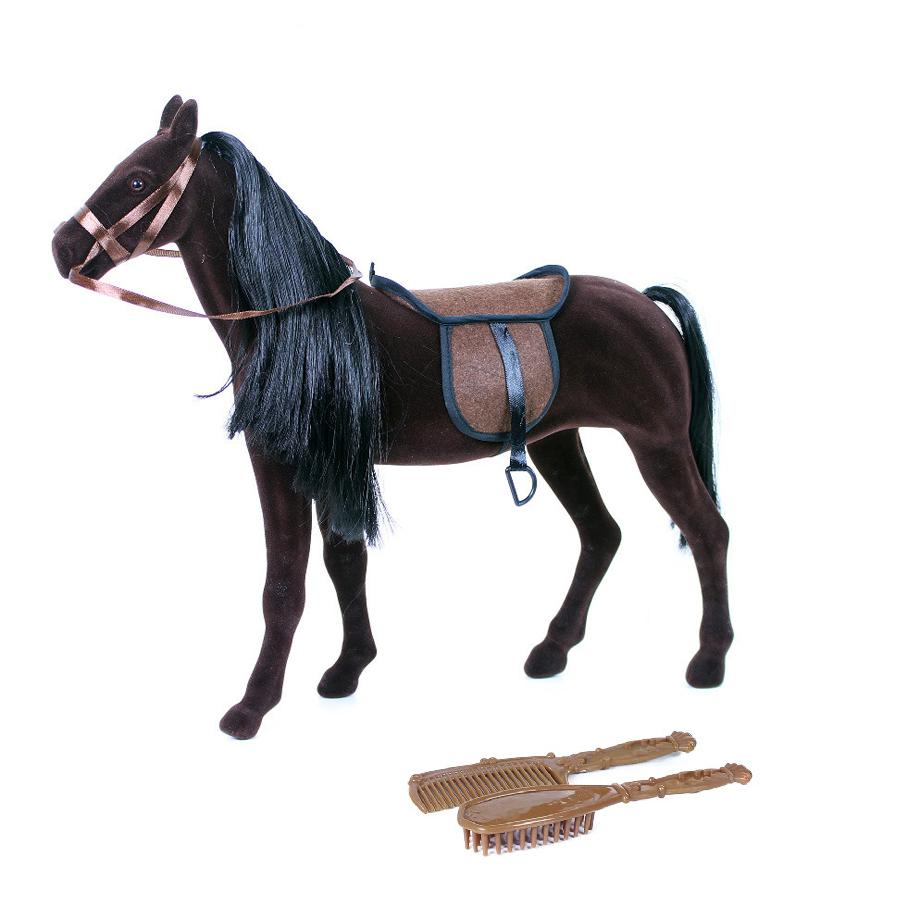 Kůň fliska tmavě hnědý obrovský s příslušenstvím