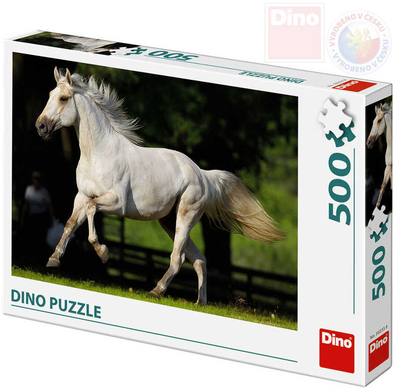 DINO Puzzle 500 dílků Bělouš na louce foto 47x33cm skládačka v krabici
