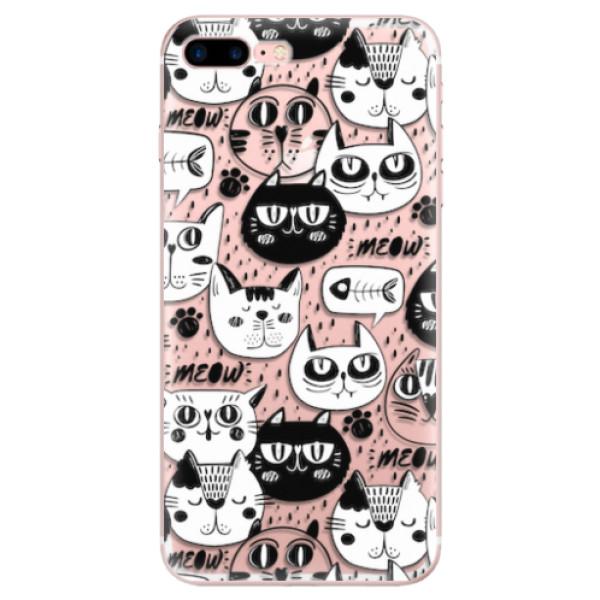 Odolné silikonové pouzdro iSaprio - Cat pattern 03 - iPhone 7 Plus
