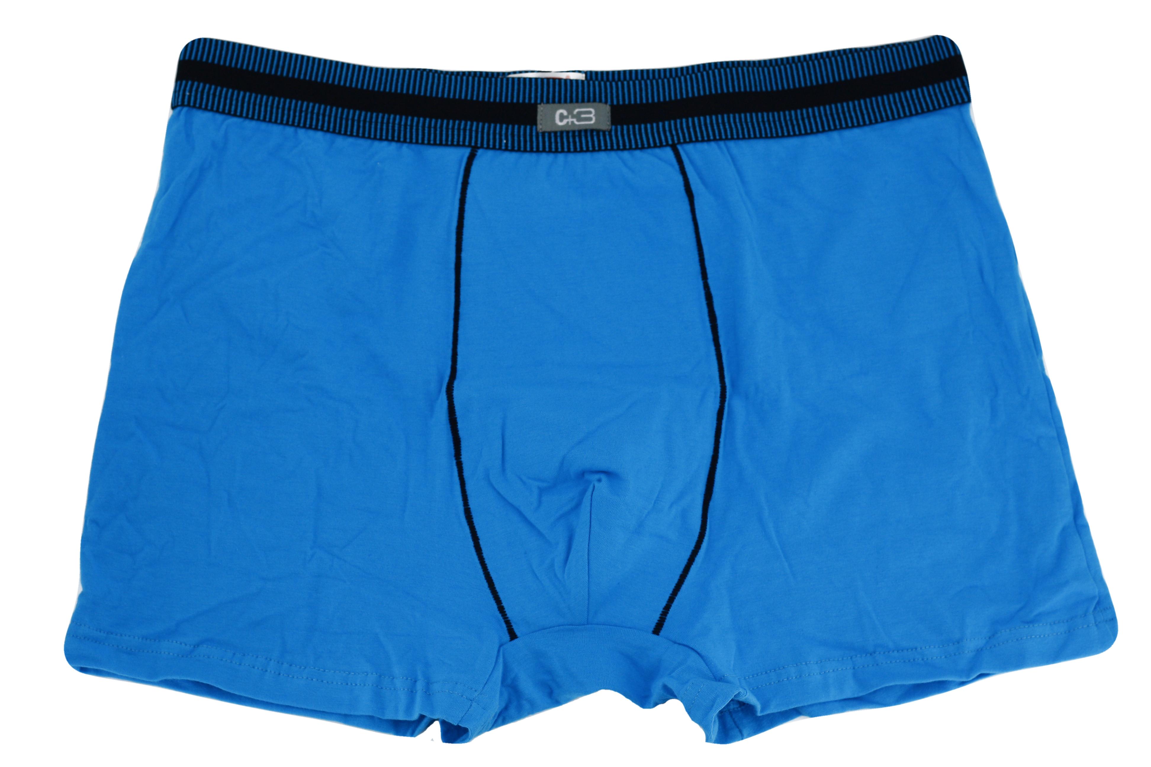Pánské boxerky Premium VBE-037 - C+3 - Světle modrá/2XL