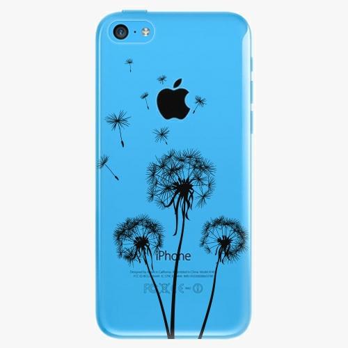 Plastový kryt iSaprio - Three Dandelions - black - iPhone 5C