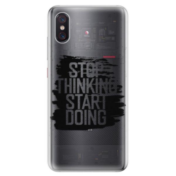Odolné silikonové pouzdro iSaprio - Start Doing - black - Xiaomi Mi 8 Pro