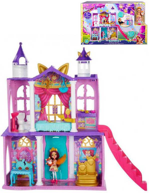MATTEL Enchantimals královský zámek herní set panenka Felicity s doplňky