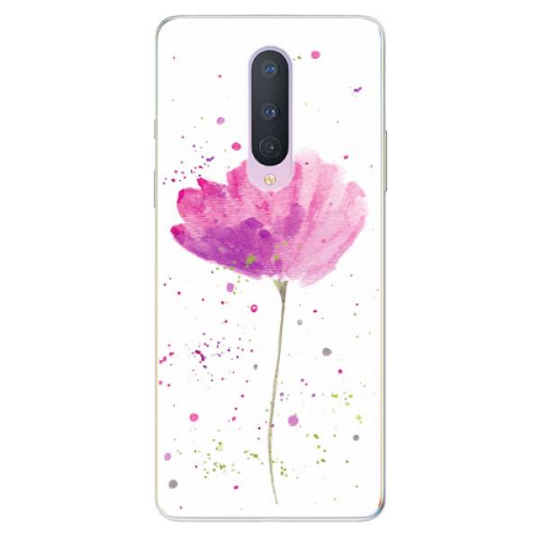 Odolné silikonové pouzdro iSaprio - Poppies - OnePlus 8