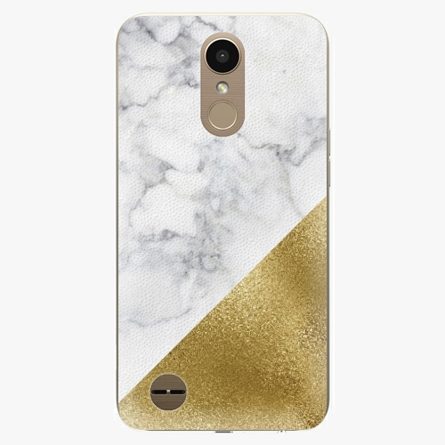 Plastový kryt iSaprio - Gold and WH Marble - LG K10 2017
