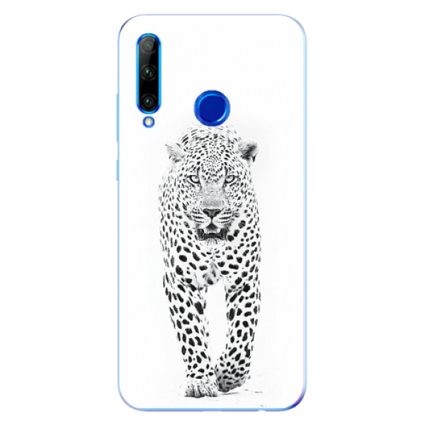 Odolné silikonové pouzdro iSaprio - White Jaguar - Huawei Honor 20 Lite
