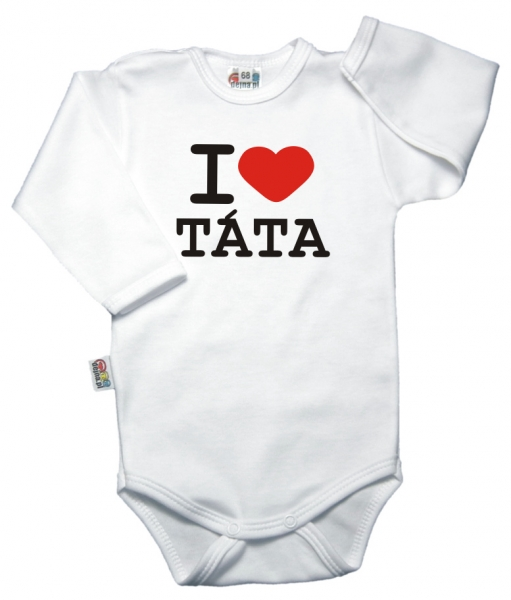 baby-dejna-body-dlouhy-rukav-vel-86-i-love-tata-bile-k19-86-12-18m