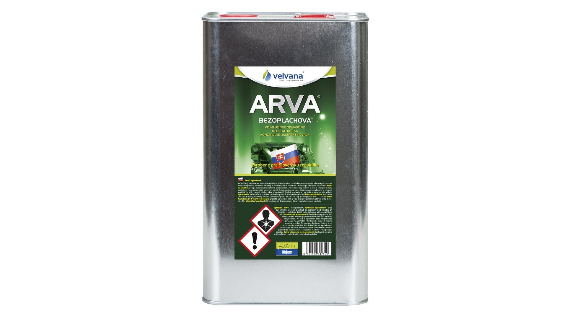 ARVA bezoplachová - plech - 4l