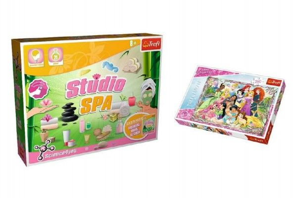 PACK Science for you Studio SPA 21 pokusů + Puzzle Disney Princezny 260 dílků v krabici 40