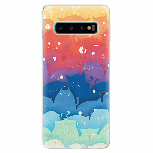 Silikonové pouzdro iSaprio - Cats World - Samsung Galaxy S10