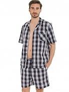 Pánské pyžamo KR/KN 50090 - Jockey - Káro/L