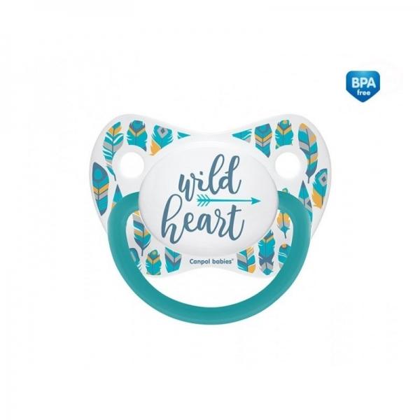 Dudlík anatomický Wild Heart 18m+ C - tyrkysový - 18m+