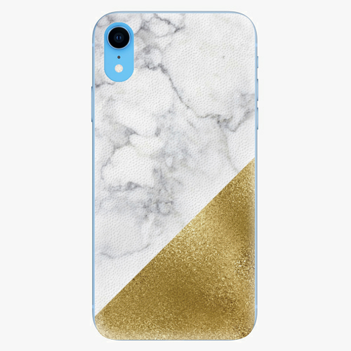 Silikonové pouzdro iSaprio - Gold and WH Marble - iPhone XR
