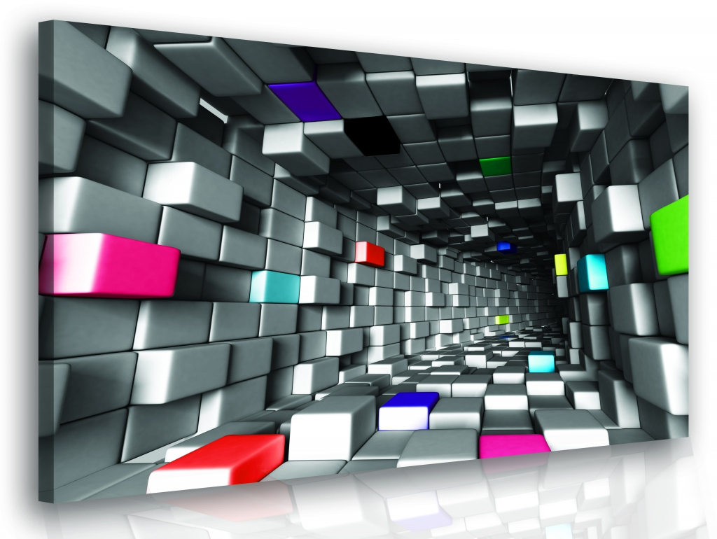 3D obraz - barevné kostky