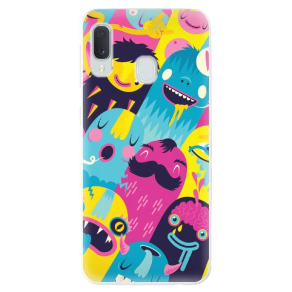 Odolné silikonové pouzdro iSaprio - Monsters - Samsung Galaxy A20e
