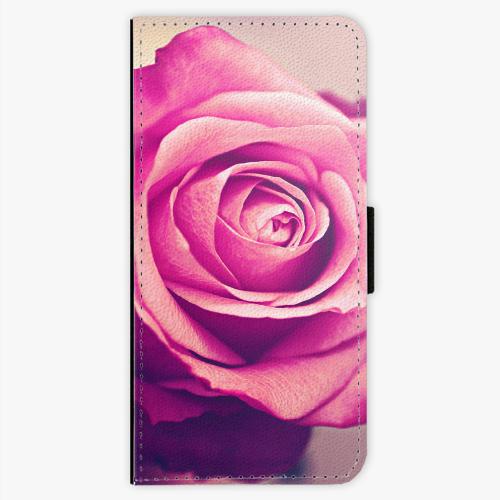 Flipové pouzdro iSaprio - Pink Rose - Samsung Galaxy S7 Edge
