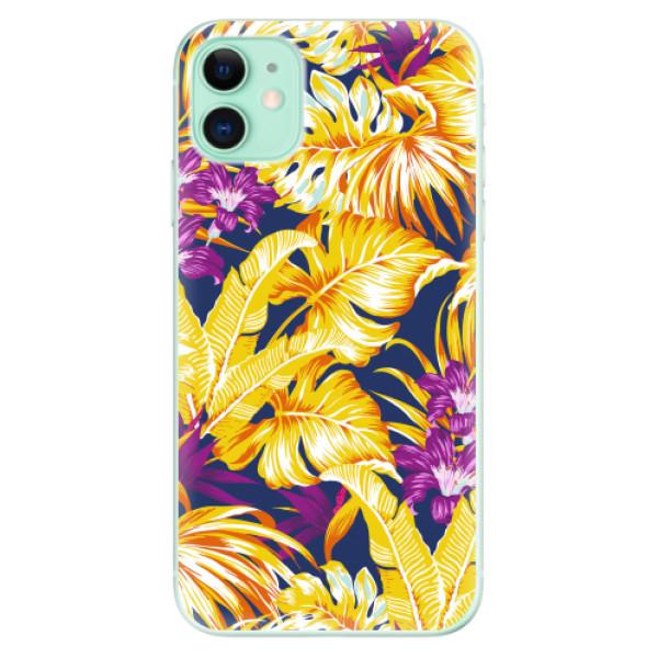 Odolné silikonové pouzdro iSaprio - Tropical Orange 04 - iPhone 11