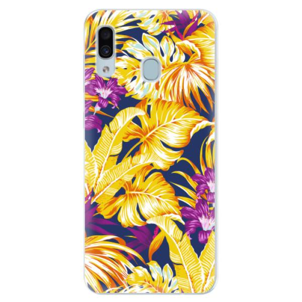 Silikonové pouzdro iSaprio - Tropical Orange 04 - Samsung Galaxy A30