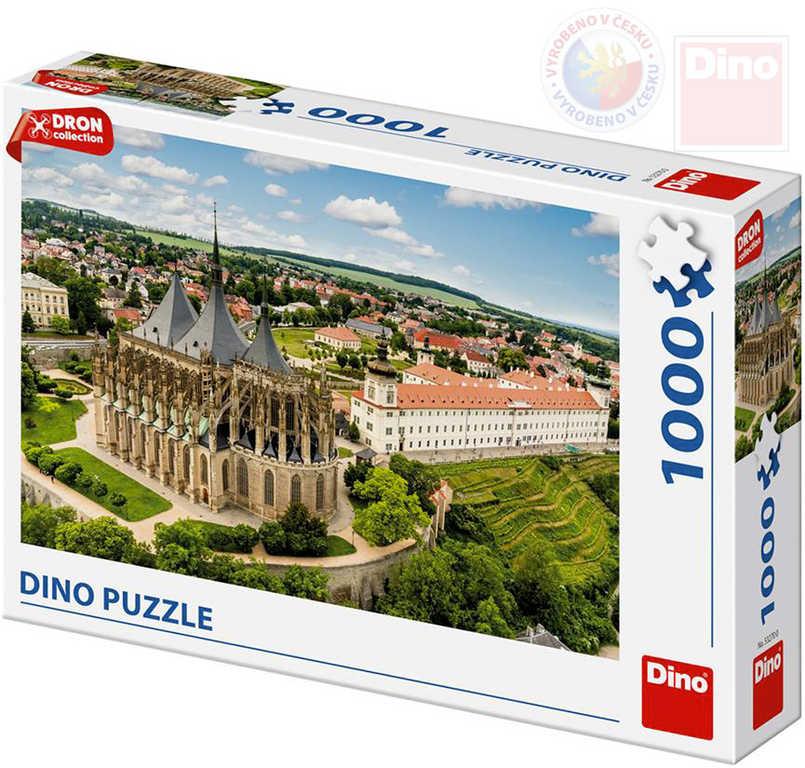 DINO Puzzle 1000 dílků Kutná Hora dron collection 66x47cm skládačka v krabici