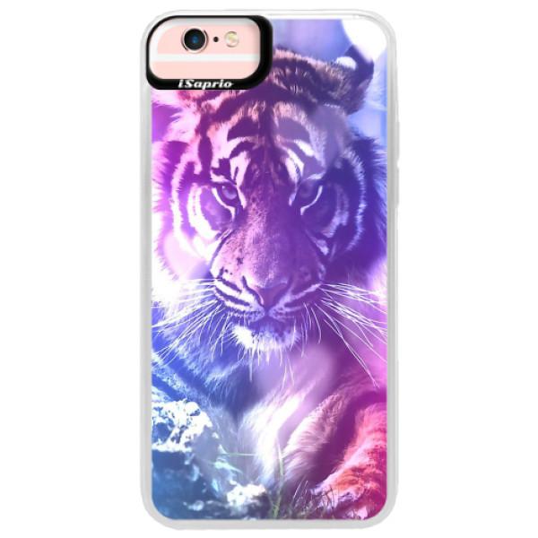 Neonové pouzdro Pink iSaprio - Purple Tiger - iPhone 6 Plus/6S Plus
