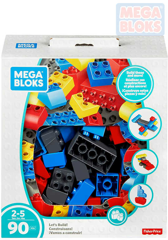 MEGA BLOKS Baby Kostky Jumbo box set 90ks stavebnice pro miminko