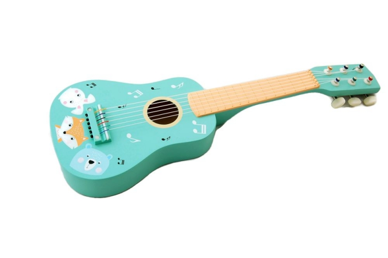 Adam Toys Dřevěná kytara zvířátka