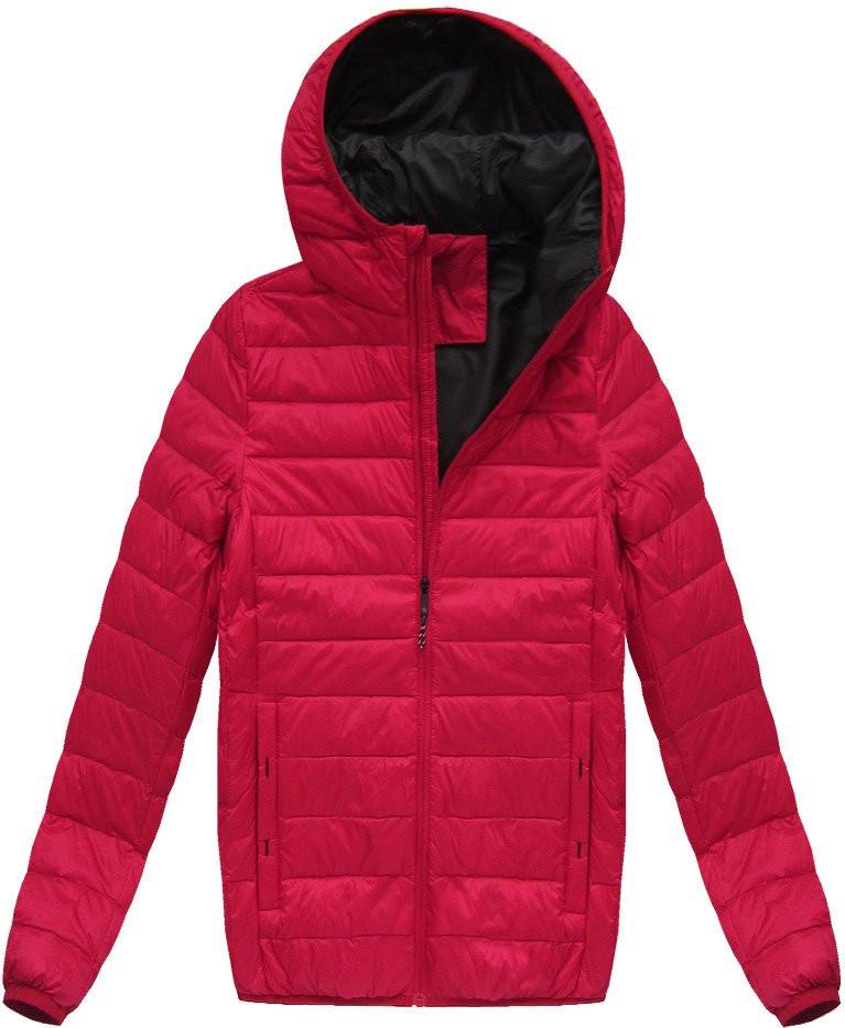 Červená pánská bunda s přírodní vycpávkou (5023) - Červená/M