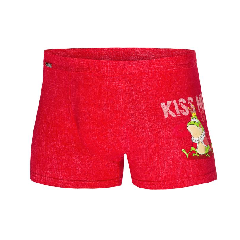 Pánské boxerky BW 010/55 KISS ME - Červená/XL