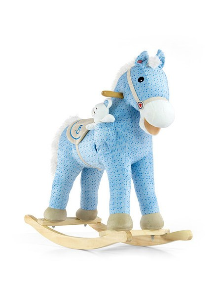 Houpací koník s melodií Milly Mally Pony - modrá