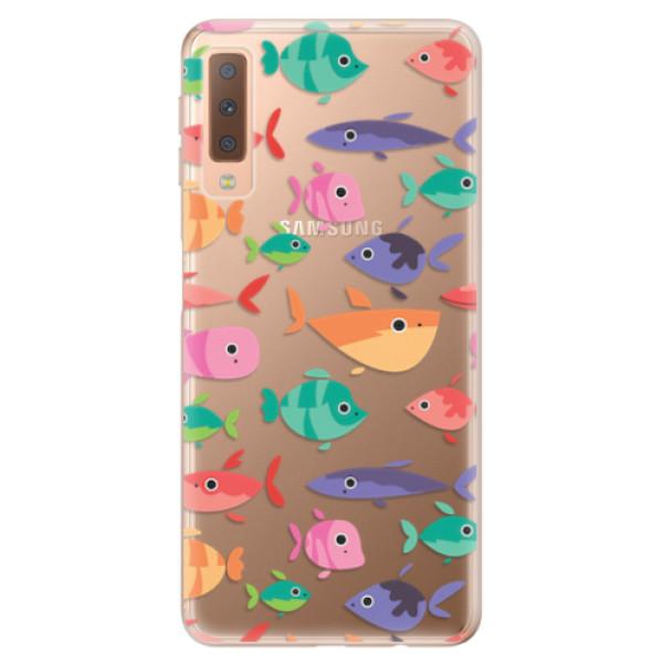 Odolné silikonové pouzdro iSaprio - Fish pattern 01 - Samsung Galaxy A7 (2018)