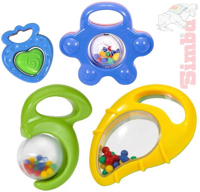 SIMBA Chrastítko 8 - 10 cm barevné pro miminko