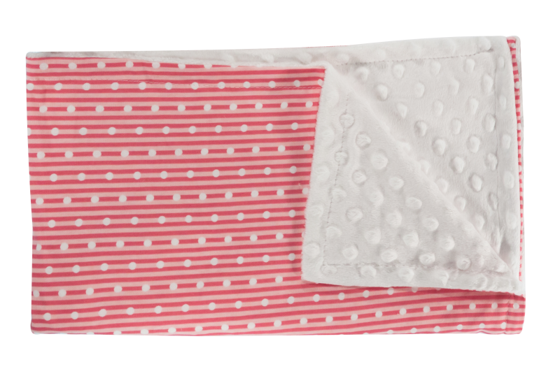 Dětská deka, dečka Love Girl, 75x90 - Minky/bavlna, červená, minky - bílá