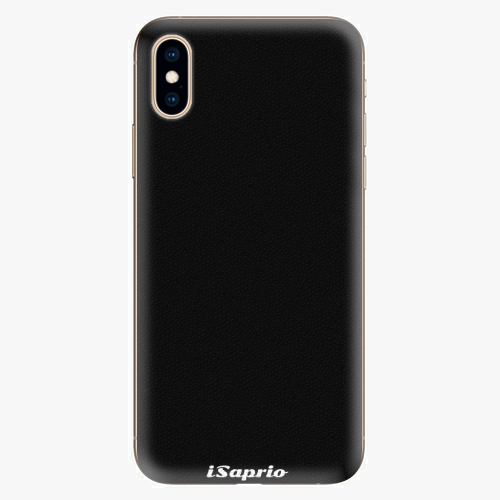Plastový kryt iSaprio - 4Pure - černý - iPhone XS