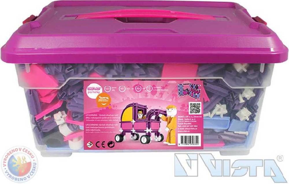VISTA SEVA 1 Jumbo Pro holky polytechnická STAVEBNICE v boxu 1172 dílků