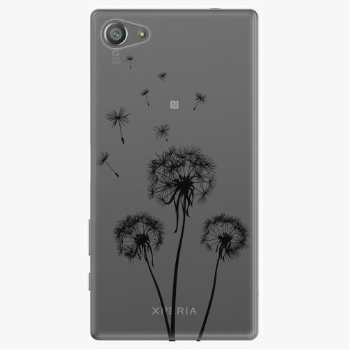 Plastový kryt iSaprio - Three Dandelions - black - Sony Xperia Z5 Compact