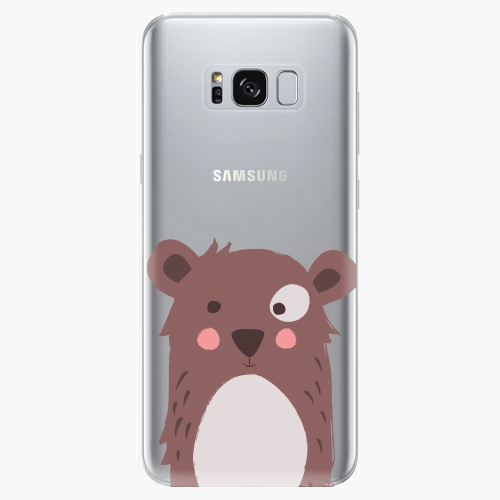 Silikonové pouzdro iSaprio - Brown Bear - Samsung Galaxy S8