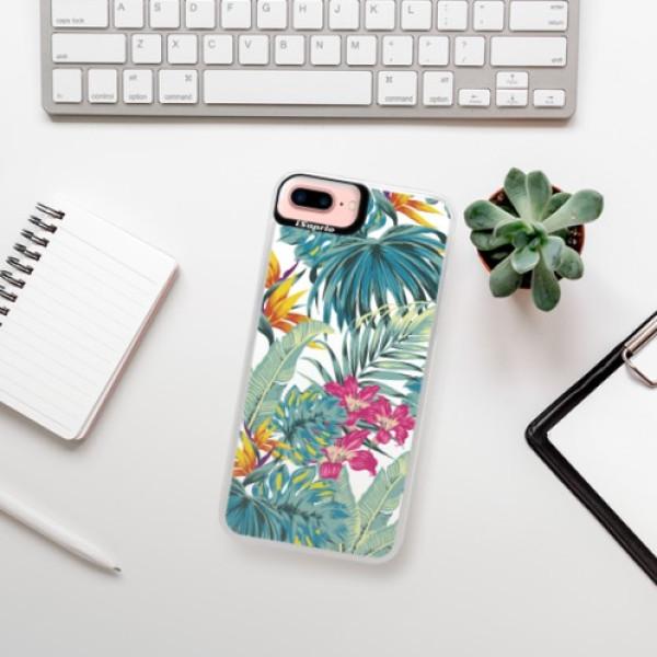 Neonové pouzdro Pink iSaprio - Tropical White 03 - iPhone 7 Plus