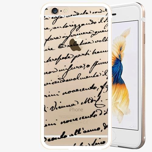 Plastový kryt iSaprio - Handwiting 01 - black - iPhone 6 Plus/6S Plus - Gold