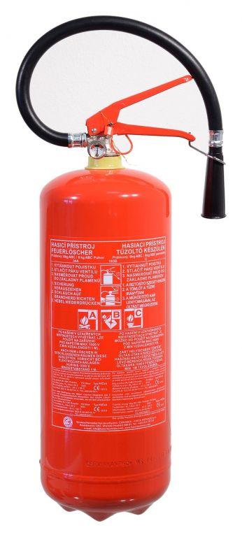 Hasicí přístroj práškový - 6 kg, ABC (34A)