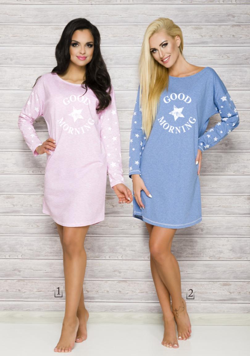 Dámská noční košile NADIA 2111 - TARO - Modrá/XL