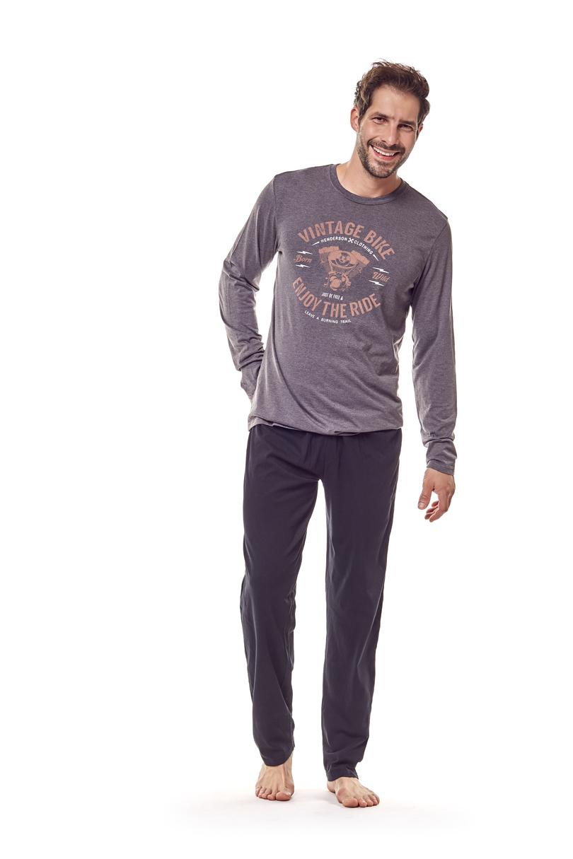 Pánské pyžamo FLAME 36202 - Tmavě šedá/2XL