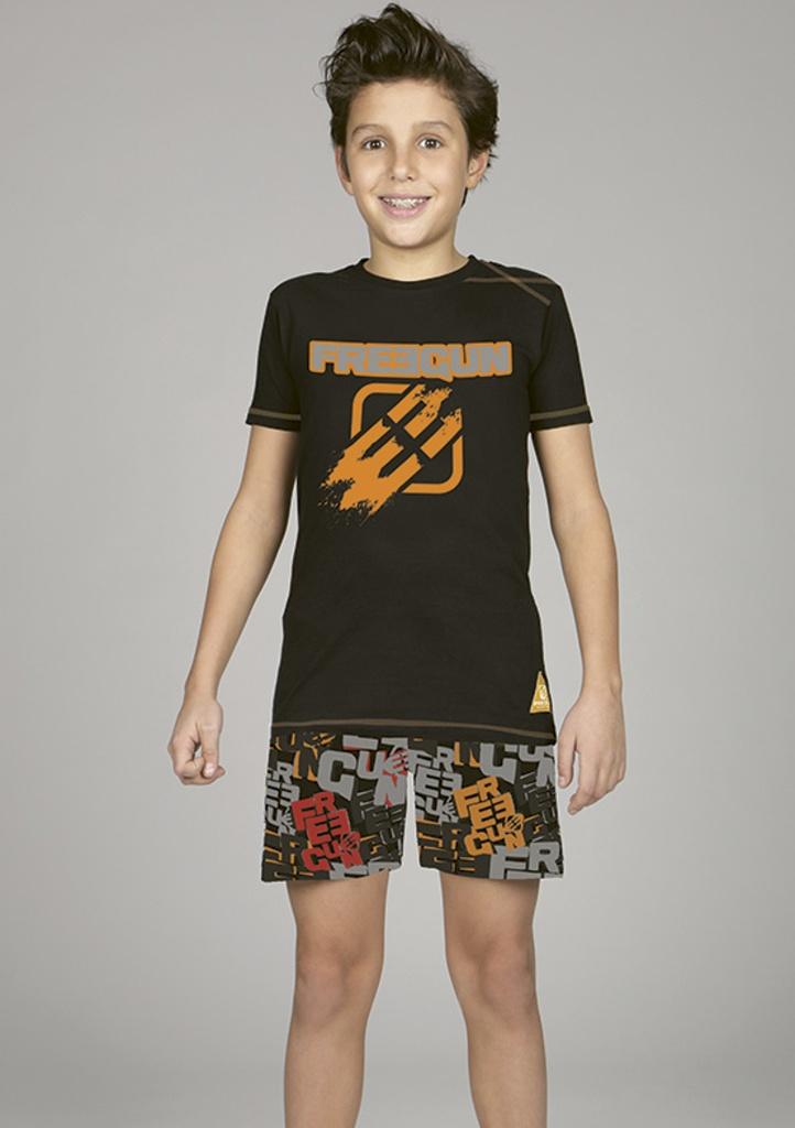 Chlapecké pyžamo CTM FREERIDER.PSH 10 Černá