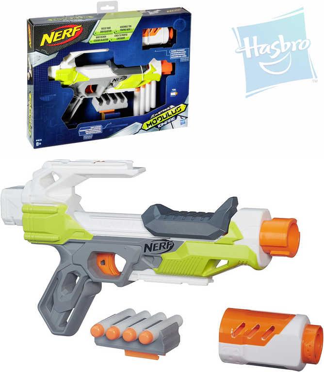 HASBRO NERF Pistole Modulus Ionfire set se zásobníkem a 4 šipkami