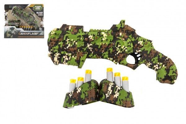 Teddies Vojenská pistole + 6 ks pěnových nábojů, 23 cm