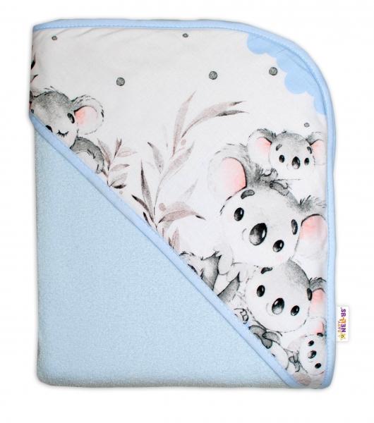 detska-termoosuska-s-kapuci-baby-nellys-medvidek-koala-100-x-100-cm-modra