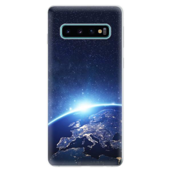 Odolné silikonové pouzdro iSaprio - Earth at Night - Samsung Galaxy S10
