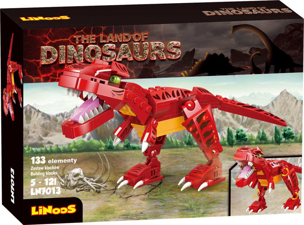LiNooS Dinosaurus Tyranosaurus 133 dílků plast STAVEBNICE