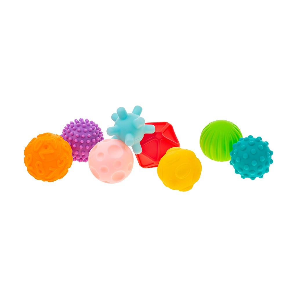 Sada senzorických hraček 8ks Akuku - balónky - dle obrázku