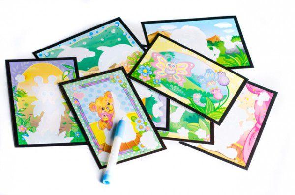 Kouzelné malování vodou 8 obrázků v krabici 22x27x4cm